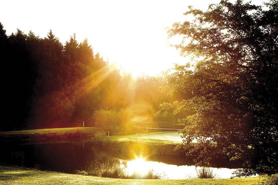 """""""Der frühe Vogel fängt den Wurm."""" Der GC Berchtesgadener Land ist auch in den Morgenstunden wunderschön. (Quelle: GC Berchtesgadener Land)"""
