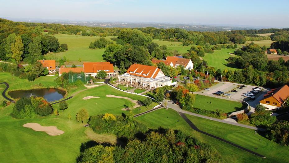 Aussicht auf den Golf Club Teutoburger Wald.