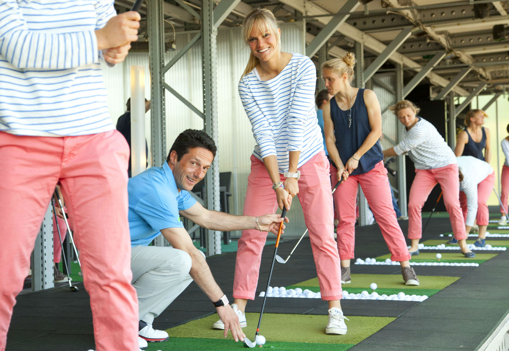 Gruppendynamik - Ein wichtiger Punkt im Training. (Foto: Golf Lounge Hamburg)