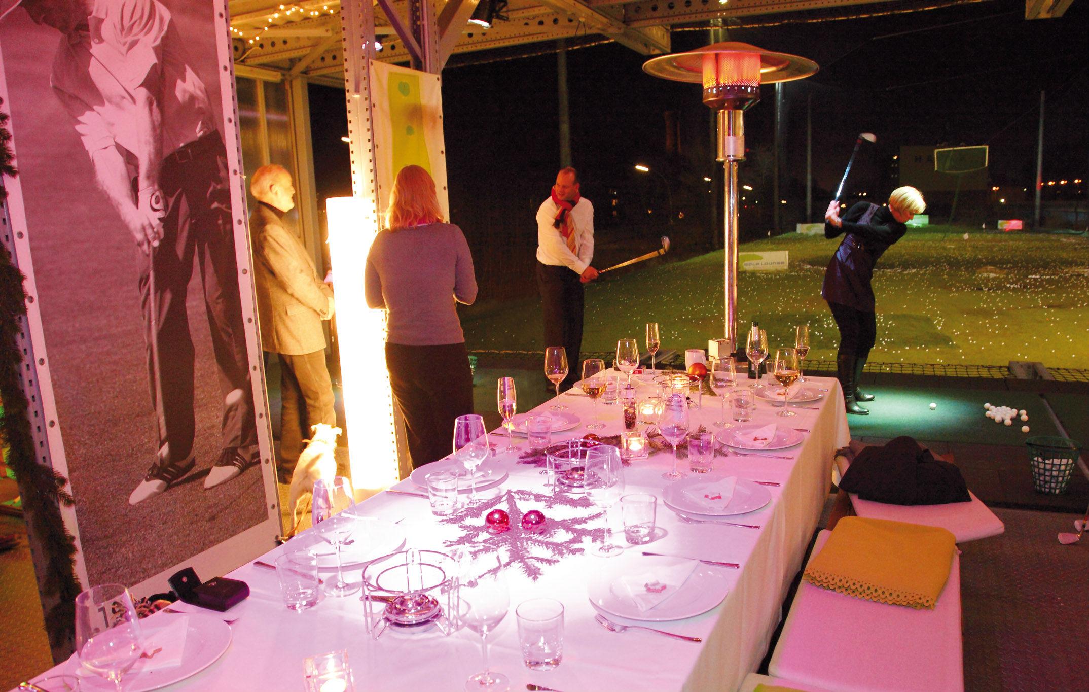 Abendessen und Golf - Ein tolles Erlebnis. (Foto: Golf Lounge Hamburg)