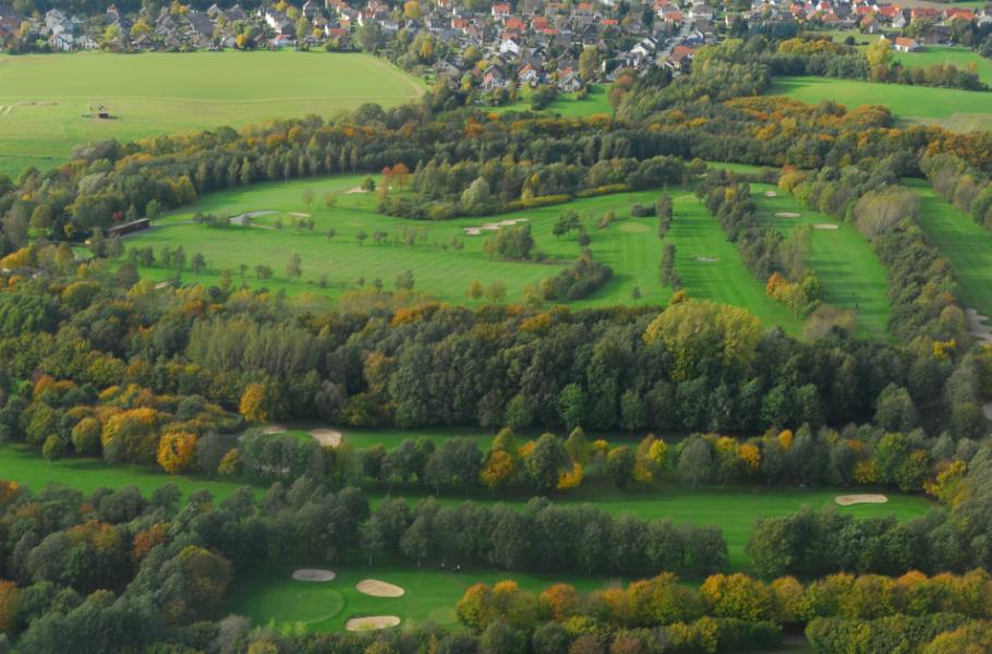 Die Anlage des GC Ravensberger Land von oben. (Foto: GC Ravensberger Land)
