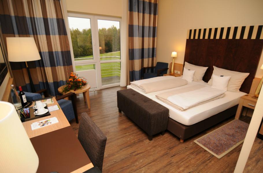 Ein Standardzimmer im Hotel Gut Heckenhof. (Foto: Gut Heckenhof)