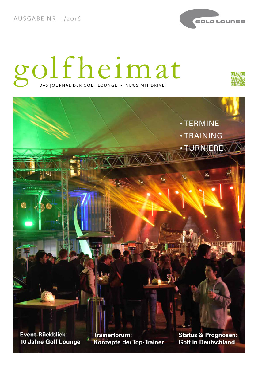 Golfheimat - Das Journal der Golf Lounge mit allen wichtige Terminen.(Foto: Golf Lounge Hamburg)