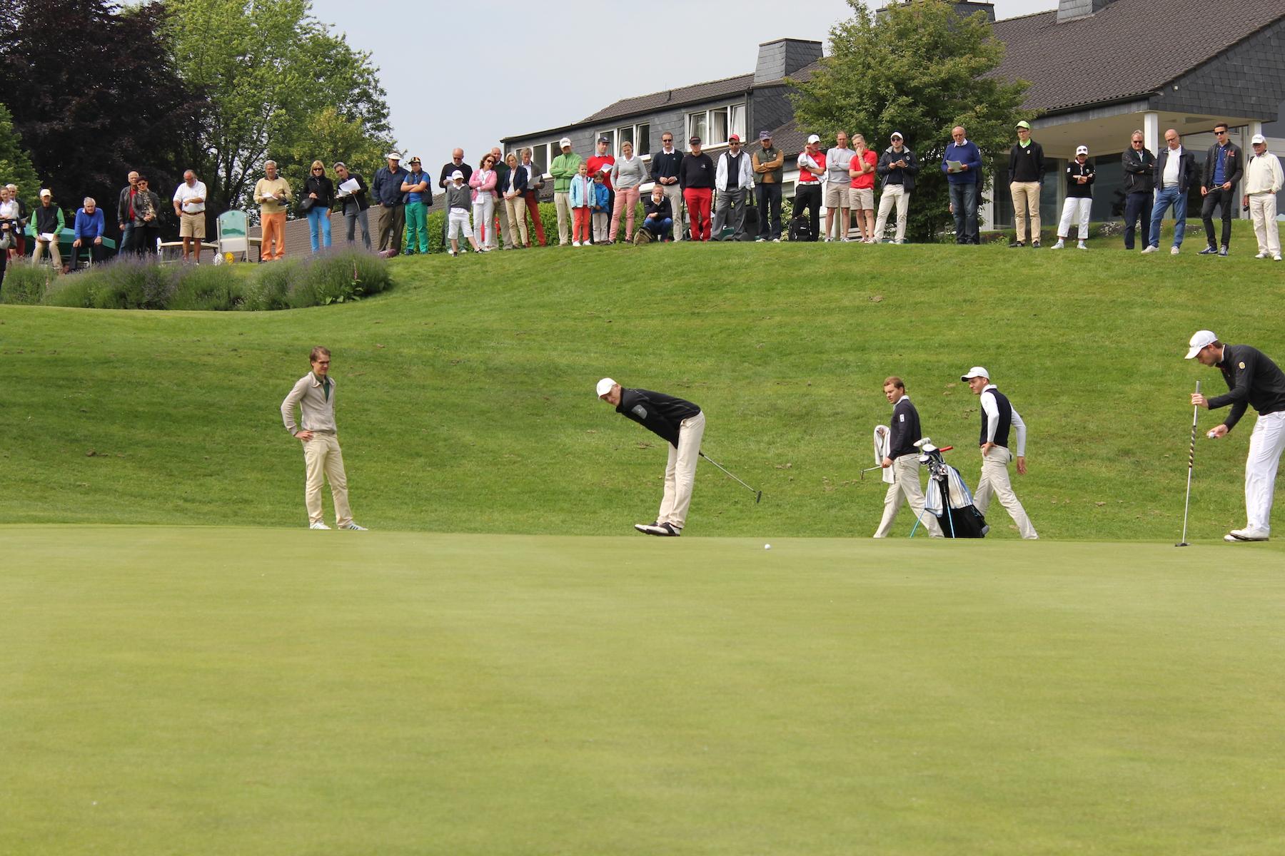 Grün 9 während des Spieltags der Kramski Deutschen Golfliga (Foto: Hubbelrath)
