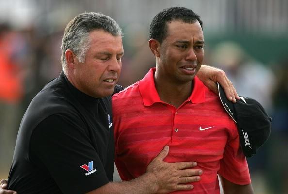 Tiger Woods kommen die Tränen
