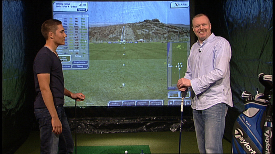 dominic foos bei tv total mit stefan raab golf post. Black Bedroom Furniture Sets. Home Design Ideas