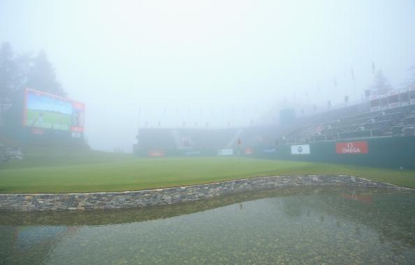 Wegen Nebels verschob sich der Beginn der Finalrunde. (Foto: Getty)