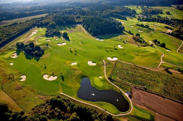 Aus der Vogelperspektive: Golfpark Weiherhof. (Foto: Golfpark Weiherhof)