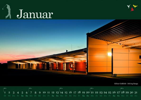 Golfkalender 2013 Monat Januar