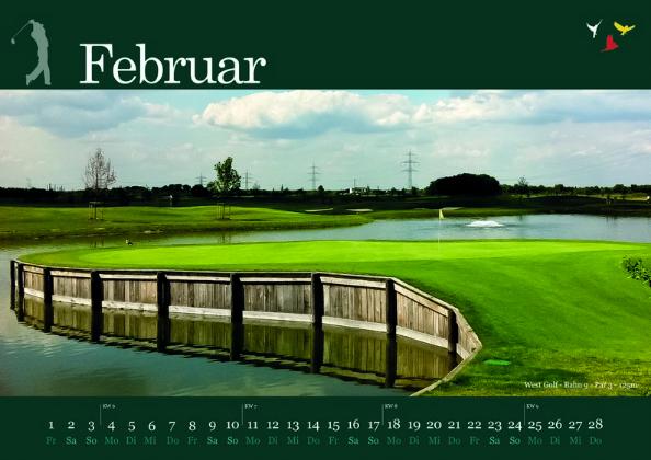 Golfkalender 2013 Monat Februar