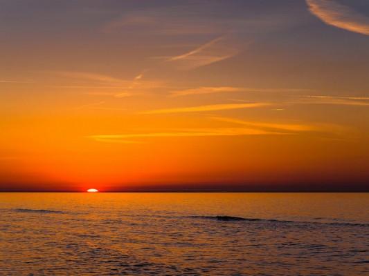 <h2>Sonnenuntergang auf Rügen</h2>