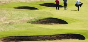 Ein Blick auf den LInkskurs von Royal Lytham & St Anne's bei der British Open 2012 in Lytham. (Foto: Getty)