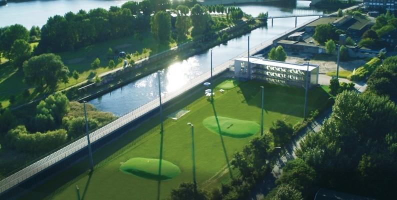 Die einzigartige Lage der Golf Lounge Hamburg bietet idyllisches Feeling. (Foto: Golf Lounge Hamburg)