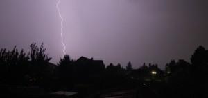 Donner und Blitze in Südafrika. Der zweite Tag wurde unterbrochen. (Foto: Franz59)