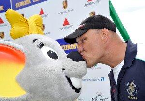 Axel Schulz beim Europa-Park Eagles Charity Golfcup im letzten Jahr. (Foto: Europa-Park)
