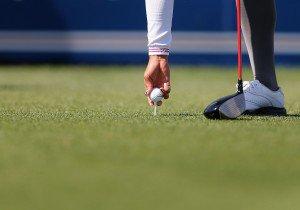 Golfball aufteen