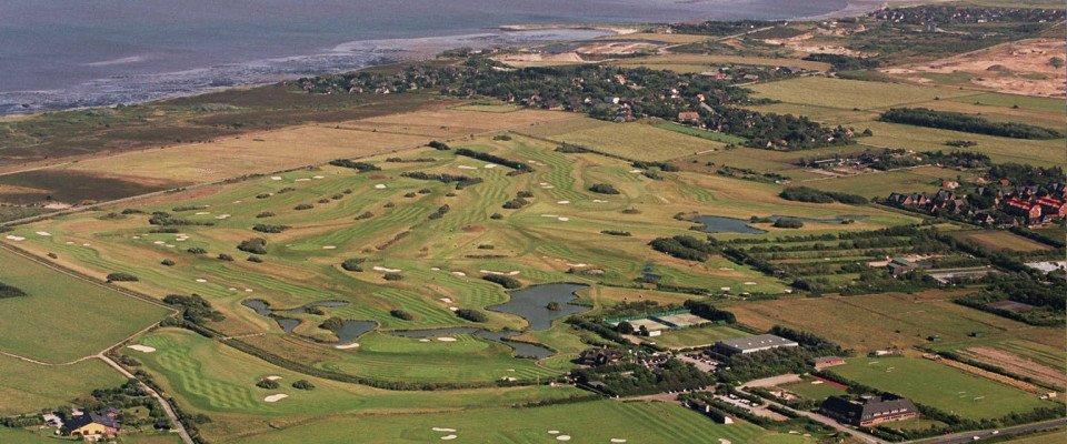 Der Golf-Club Sylt aus der Vogelperspektive