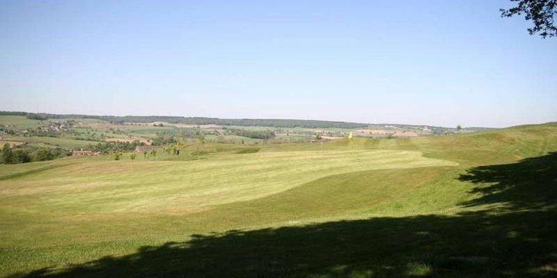 Ein Blick auf den Golfclub Mergelhof im Dreiländereck
