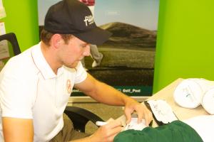 Maximilian Kieffer zu Besuch bei Golf Post