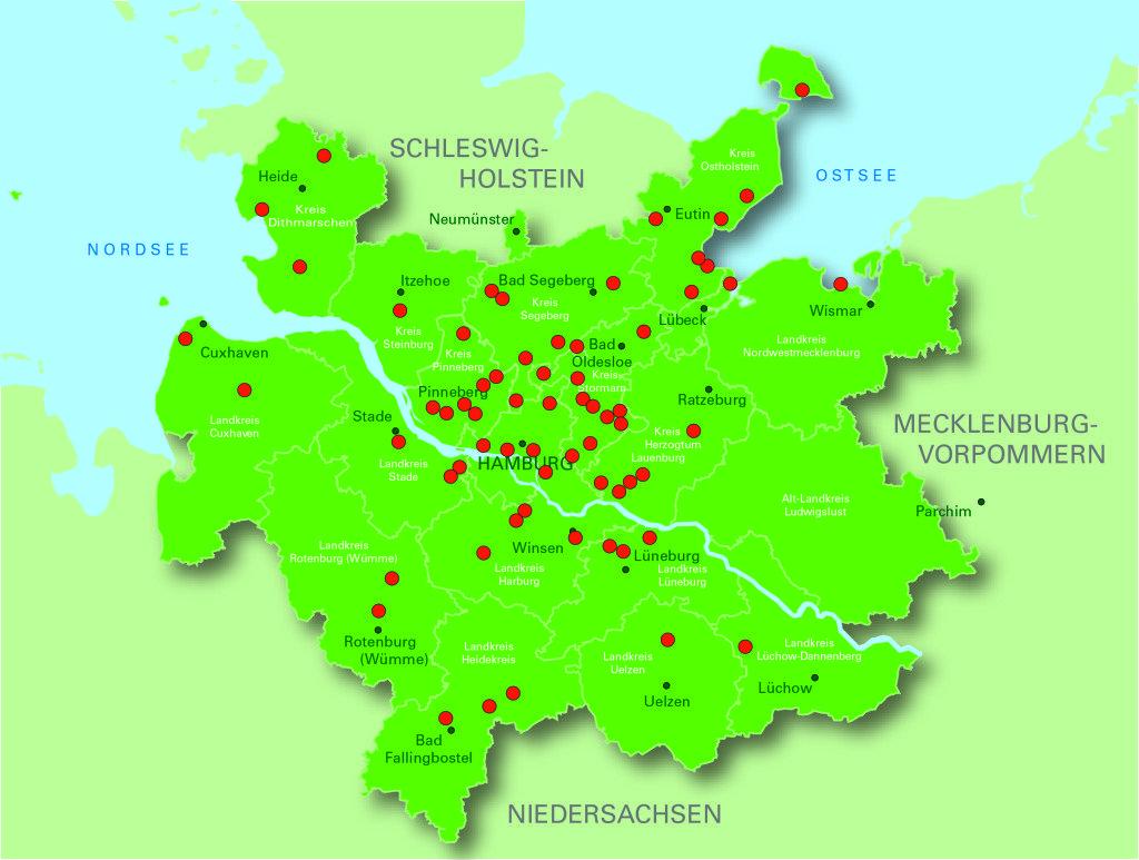 Golfregion Hamburg mit 66 Golfplätzen. (Foto: Hamburg Tourismus).
