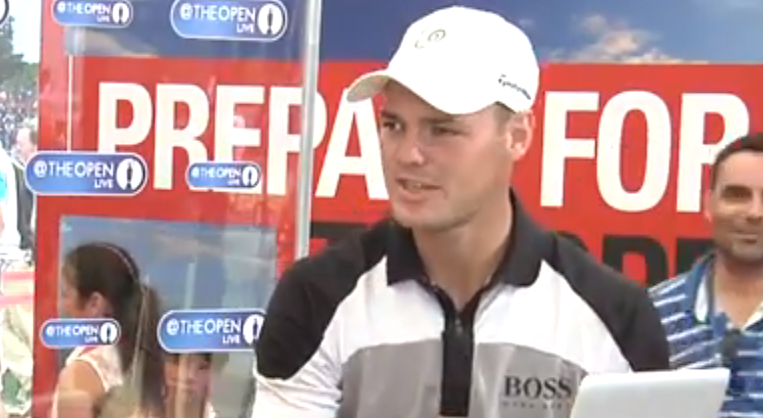 Martin Kaymer im Interview; British Open