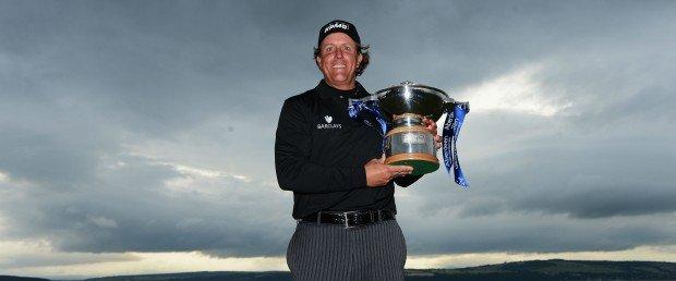 Endlich ist es ihm gelungen: Phil Mickelson triumphiert in Europa! Jetzt heißt es gut anschnallen für die Open. (Foto: Getty)