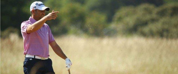 Sergio Garcia spielt am dritten Tag der British Open seine beste Runde (Foto: Getty).