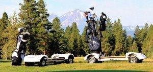 Mit dem neuartigen Golfboard kann man sich sehr einfach und sportlich auf dem Golfplatz fortbewegen. (Foto: golfboard.com)