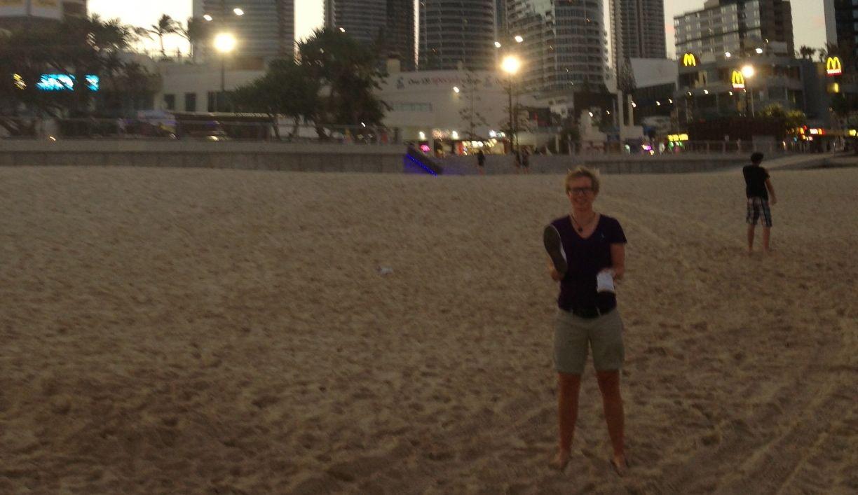 Anka Lindner an der Golf Coast in Australien. (Foto: AKL)