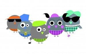 Die Maskottchen von Birdiepool