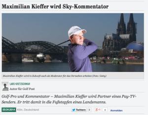 Richtigstellung: Maximilian Kieffer und Sky schließen eine Partnerschaft.