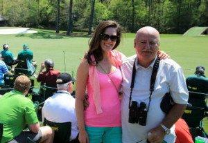 Sandra Gal mit ihrem Vater Jan beim Masters in Augusta.