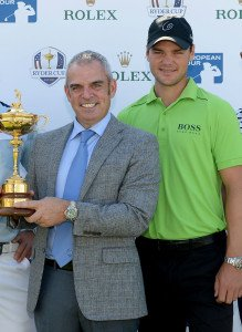 Martin Kaymer mit Ryder-Cup-Captain Paul McGinley. (Foto: Getty)