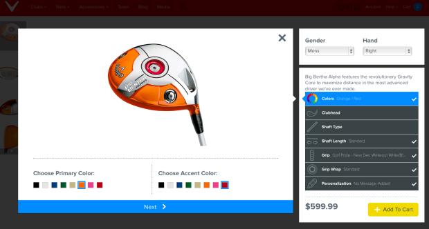 Callaway bietet zusätzlich die Option, den Driver durch eine Lasergravur zu personalisieren. (Bild: www.callawaygolf.com)