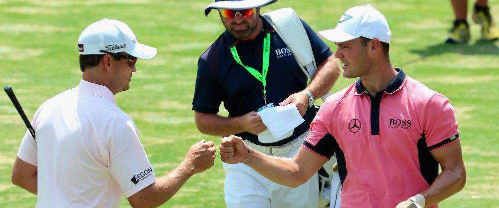 Martin Kaymer (r.) und Zach Johnson (l.) treffen sich bei der British Open an den ersten beiden Tagen zusammen mit Jason Day in einem Flight.