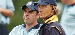 Nach seiner Demonstration bei der Senior British Open mehren sich die prominenten Stimmen, die Paul McGinley (l.) nahe legen, Bernhard Langer für den Ryder Cup zu nominieren.