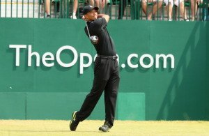 Tiger heute komplett in schwarz! (Foto: Getty)