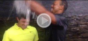 Jetzt auch Tiger Woods: Die #IceBucketChallenge erlebt eine Renaissance. (Foto: Golf Post)