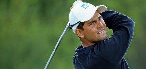 Moritz Lampert hält an diesem Wochenende die Fahne für die deutschen Golf-Herren hoch. Er ist (fast) der einzige verbliebene Spieler, nachdem Alex Cejka in Wyndham verletzungsbedingt aufgeben musste. (Foto: Getty)