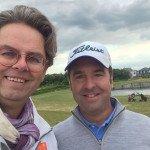 Die Initiatoren des ersten 15-Inch-Turniers in Europa: Michael Jocoby (links) und Craig West. (Foto: Golf15)