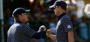 Zach Johnson und Scott Verplank beim Ryder Cup 2012. (Foto: Getty)