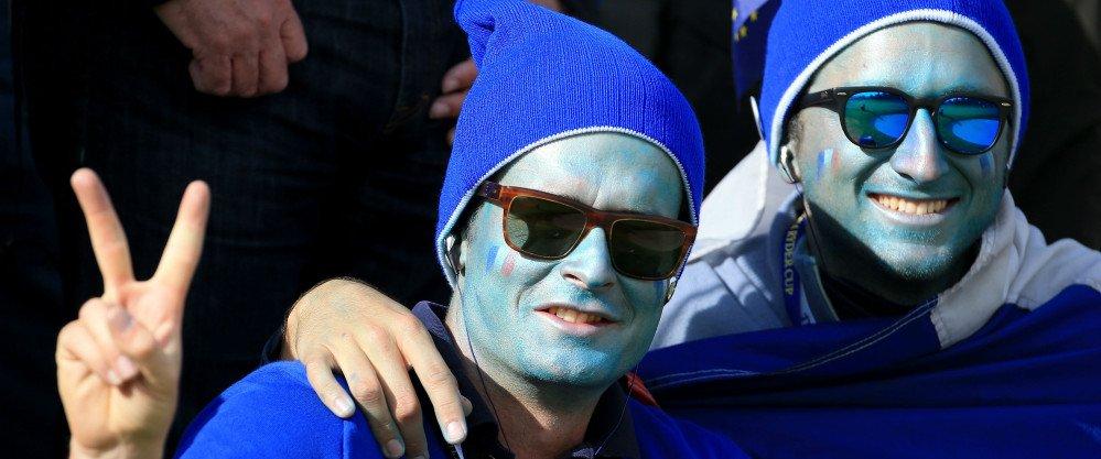 Erneut bei traumhaftem Wetter, sind die europäischen Fans trotz einer starken amerikanischen Vormittagssession weiter sehr optimistisch.