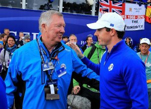 Sir Alex Ferguson mit Rory McIlroy. Foto: Getty)