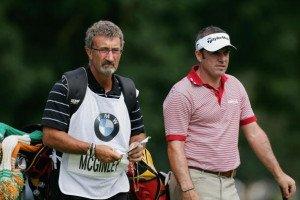 Paul McGinley mit seinem Caddie Eddie Jordan im Jahr 2005.