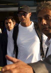 Tiger bei seiner Ankunft in Indien. (Foto: Getty)
