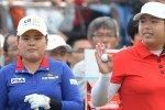 Inbee Park aus Südkorea und Shanshan Feng aus China teilen sich die Führung zum Auftakt der Fubon LPGA Taiwan Championship.