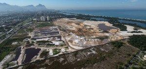 Luftaufnahme vom 28. Juli 2014 des in Bau befindlichen Golfplatzes in Rio de Janeiro, Brasilien. (Foto: Getty)
