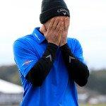 Oliver Wilson kann es nicht fassen. Nach 228 sieglosen Turnieren auf der European Tour gewinnt er nun die Alfred Dunhill Links Championship! (Foto: Getty)
