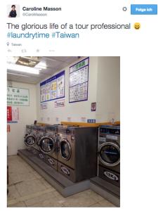 Waschtag bei Caroline Masson: auch erfolgreiche Golferinnen entkommen der Hausarbeit nicht. (Foto: Getty)