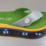 G-Flop Modell türkis Reptil mit G-FLOP Ballmarker. (Foto: eikenroth MEDIA / Thomas Eikenroth)